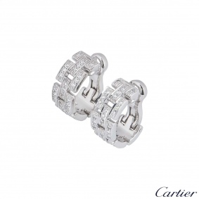 Cartier White Gold Maillon Panthere Diamond Earrings B8032600